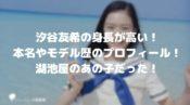 汐谷友希の身長が高い!本名やモデルのプロフィール!湖池屋のあの子だった!
