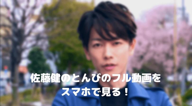 佐藤健のとんびのフル動画をスマホで見る!CM広告なしで無料視聴するには!