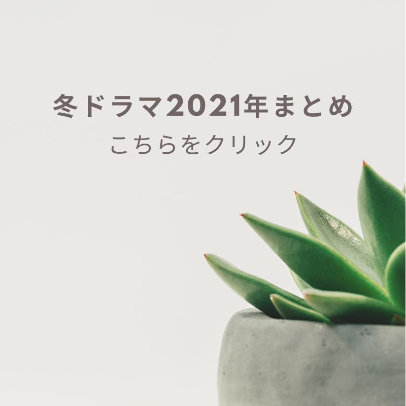 冬ドラマ2021年まとめ